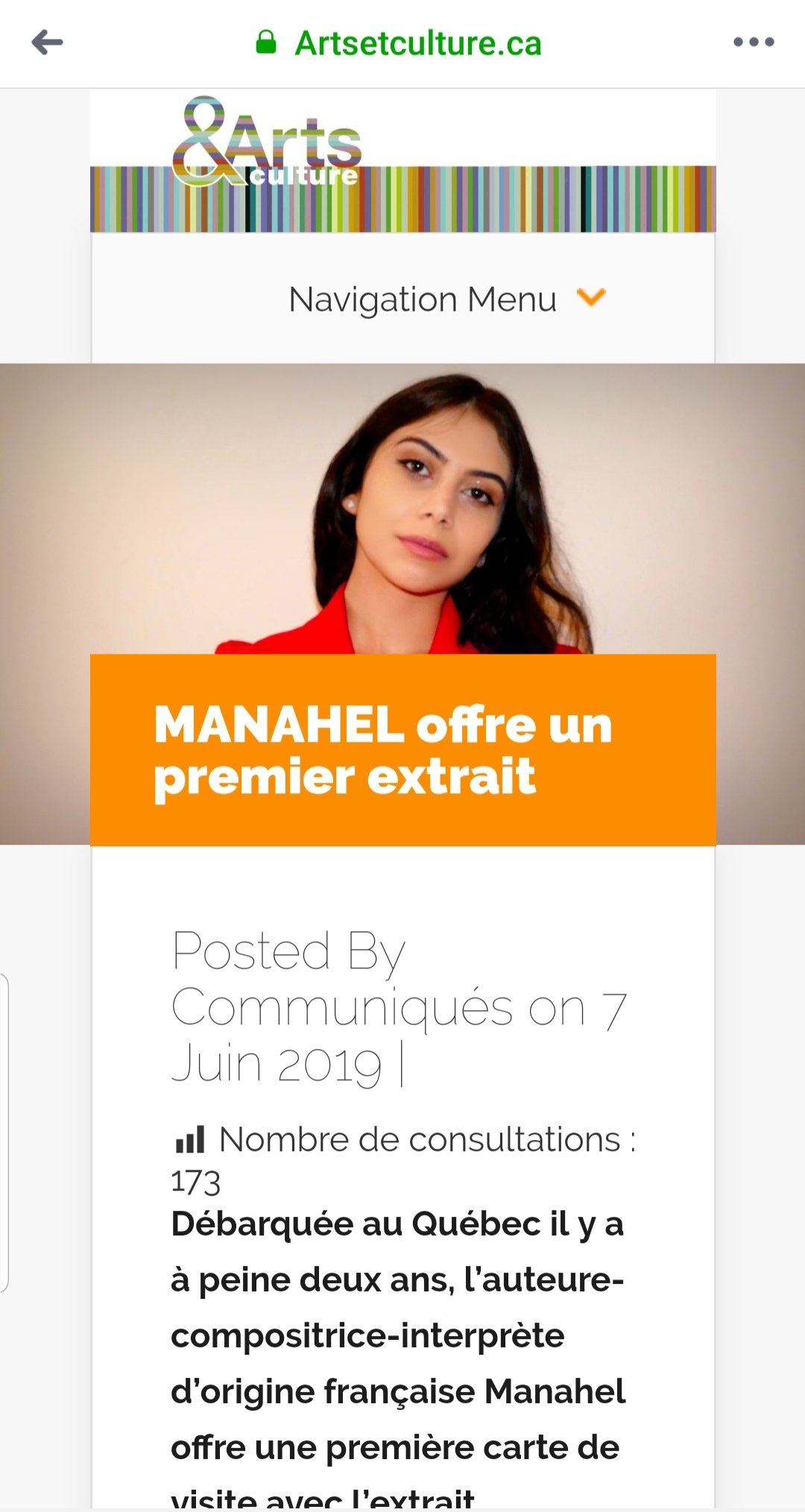 Manahel Communiqué de presse