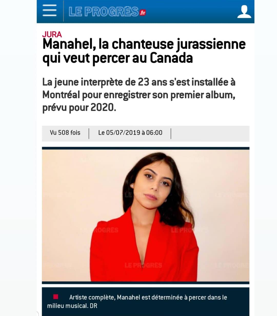 Article de presse en France