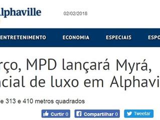 Em Março, MPD lançará o Myrá, residencial de luxo em Alphaville