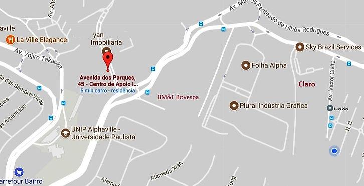 Mapa Localiação Escritório Link Office