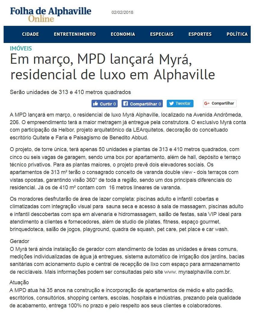 Folha de Alphaville - Myrá