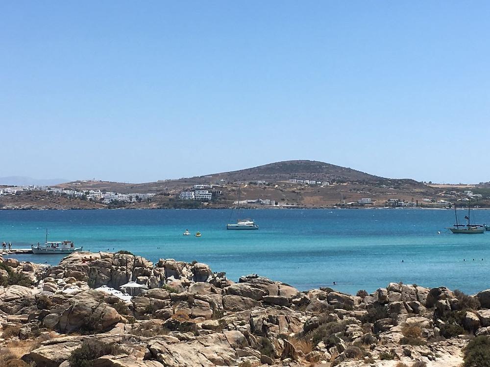 The beautiful blue waters of beach Kolimbithres