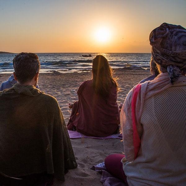 Sunrise meditation at the beach of Okreb