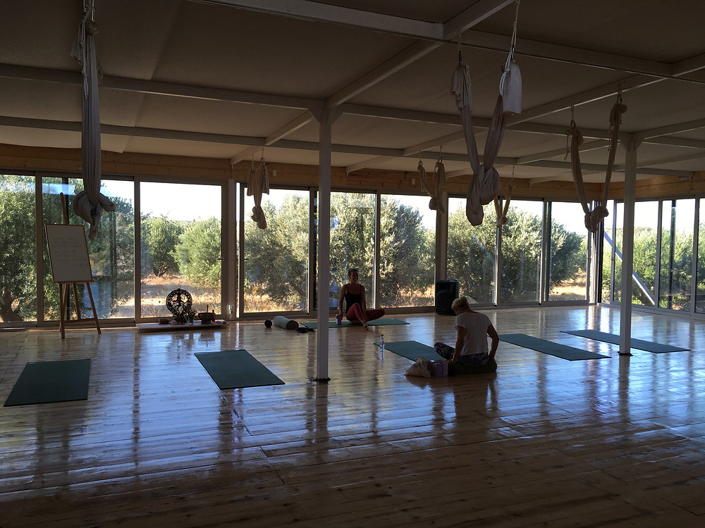 The yoga studio where we can also have our activities next year.
