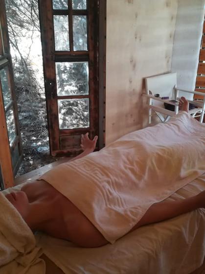 Having a massage