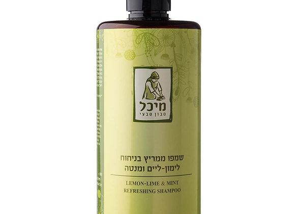מיכל סבון טבעי- שמפו טבעי ממריץ בניחוח למון-ליים ומנטה