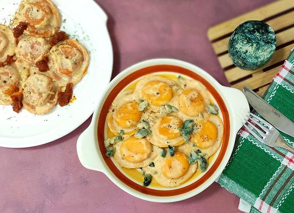 רביולי גבינת קשיו וסויה