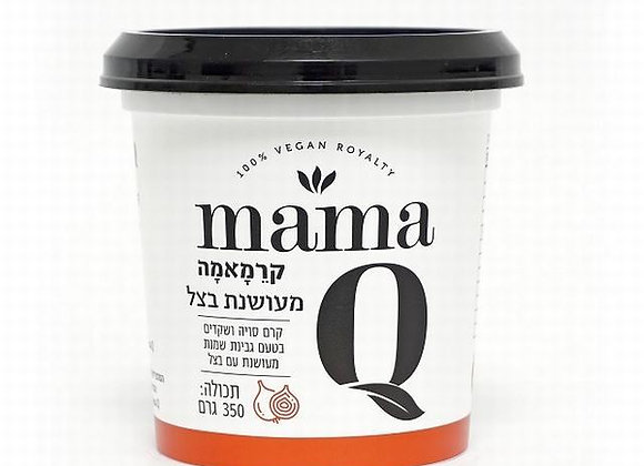 מאמא קיו- קרם סויה ושקדים בטעם גבינת שמנת מעושנת ובצל- 350 גרם