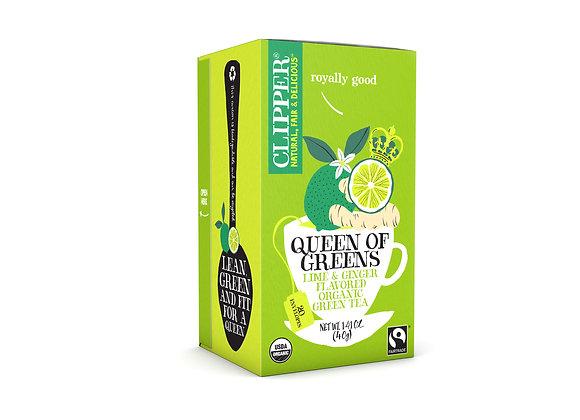 תה ירוק עם ליים וג'ינג'ר - קליפר