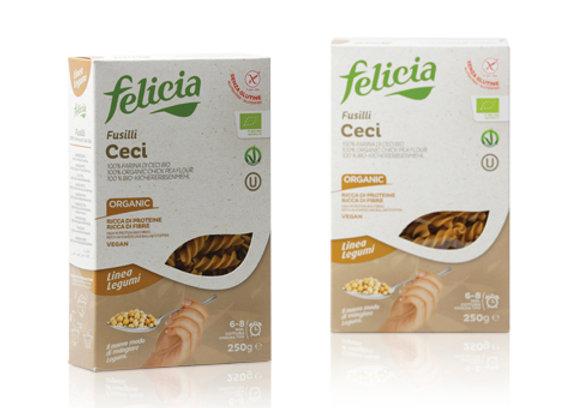 פליסיה - פסטה אורגנית מ-100% חומוס