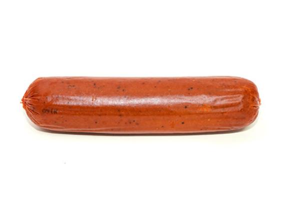 נקניק סלמי מעושן מחלבון מן הצומח