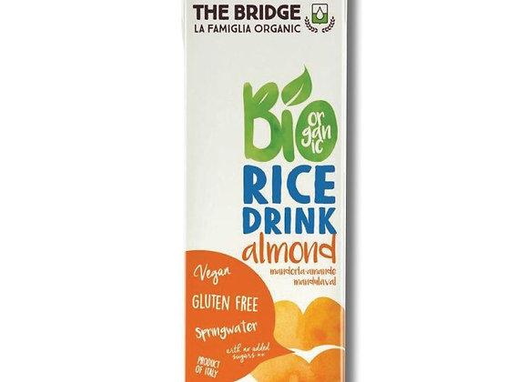 משקה אורז ושקדים אורגני ללא גלוטן ללא תוספת סוכר - דה ברידג`