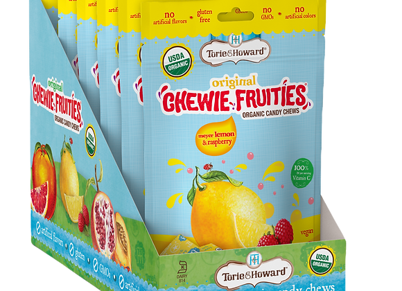 Torie&Howard- סוכריות טופי אורגניות בשקית בטעמי לימון ופטל