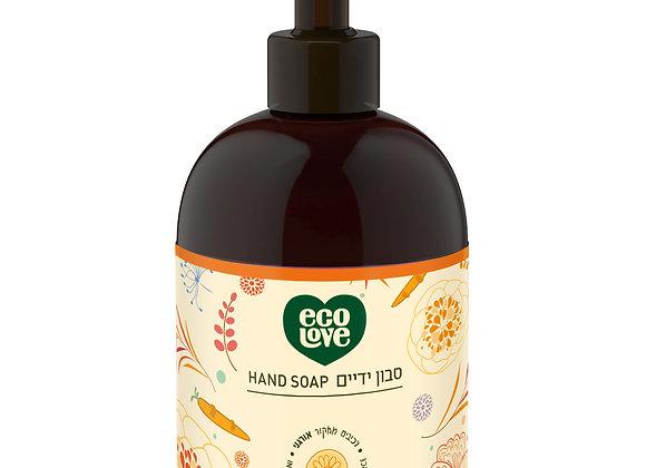 אקו לאב - סבון ידיים ממרכיבים טבעיים ואורגניים, סדרה כתומה
