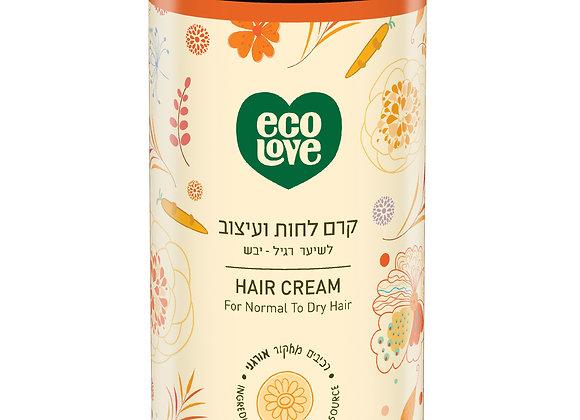 קרם לחות ועיצוב לשיער רגיל-יבש עם ירקות כתומים - אקו לאב