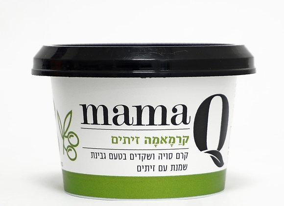 מאמא קיו- קרם סויה ושקדים בטעם גבינת שמנת עם זיתים- 180 גרם