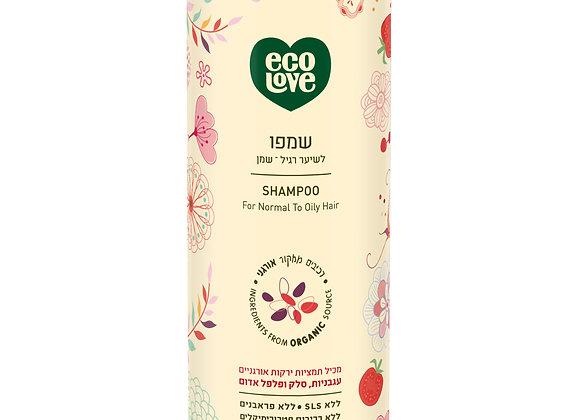 אקו לאב - שמפו לשיער רגיל / שמן עם ירקות אדומים אורגניים