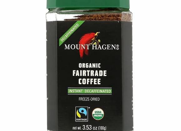 מאונט האגן - קפה נמס אורגני מיובש בהקפאה נטול
