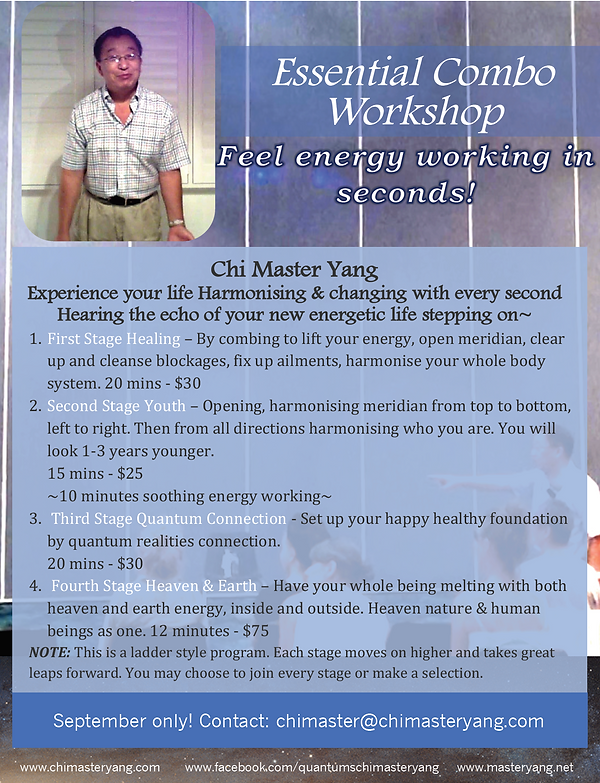 Essential combo workshop september flyer