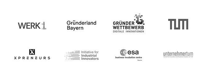Unterstützer OCELL: Werk1, Gründerland Bayern, Gründer Wettbewerb Digitale Innovationen, TUM, XPRENEURS, Initiative for Industrial Innovators, esa business incubation centre, UnternehmerTUM