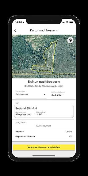 Arbeitsaufträge direkt im Wald erstellen in der Dynamic Forest-App von OCELL
