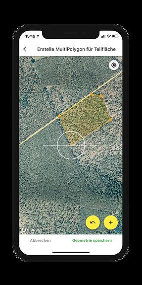 Kultur-, Pflege- & Förder- flächen dokumentieren in der Dynamic Forest-App von OCELL