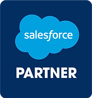 A Salesforce Partner logo in blue with a hyperlink to our AppExchange listing.