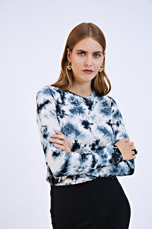 T-shirt Fabiana tie and dye bleu