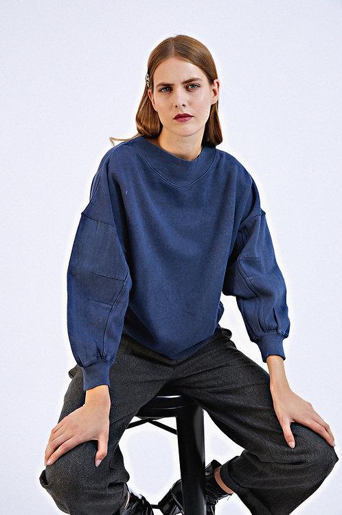 Sweat-shirt Fuji bleu délavé