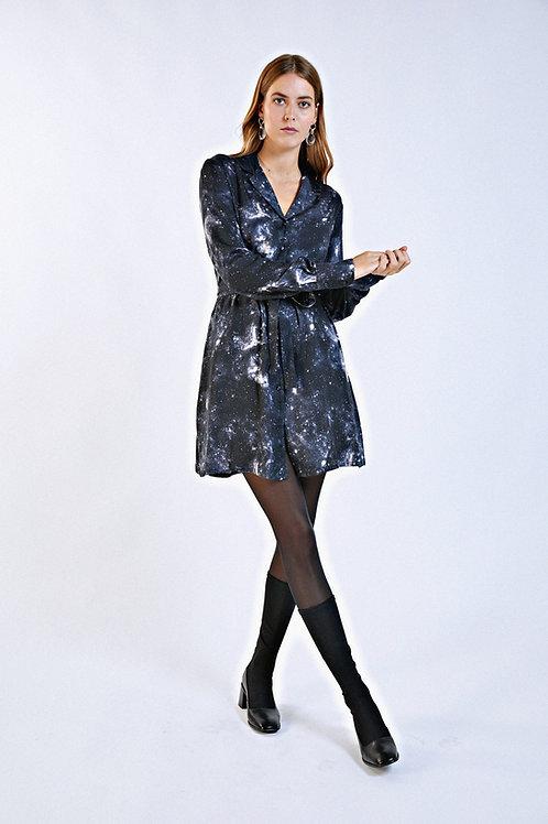 Robe Faustine imprimé cosmos noir