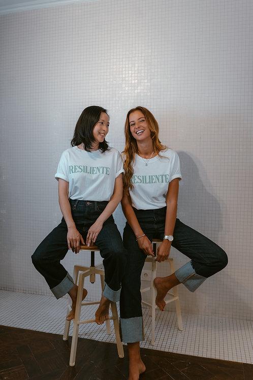 T-shirt resiliente blanc