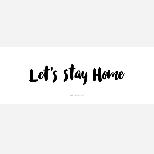 Let's Stay Home - Cover Art