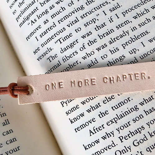 Personalize a Leather Bookmark