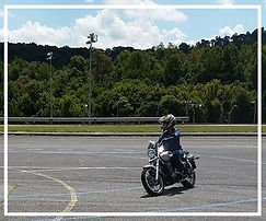 Student Riding a Motorcycle