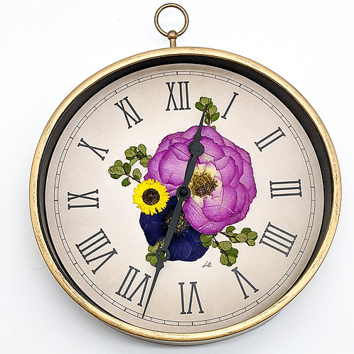 Pressed Flower Clock