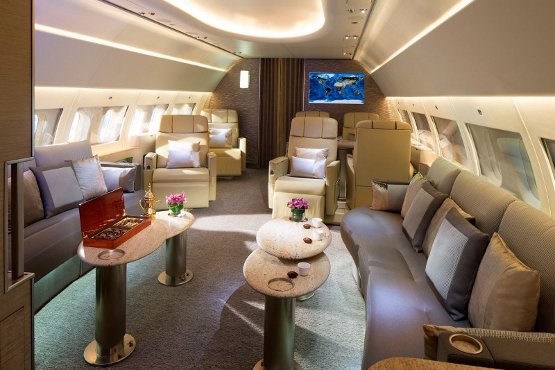 avião de luxo