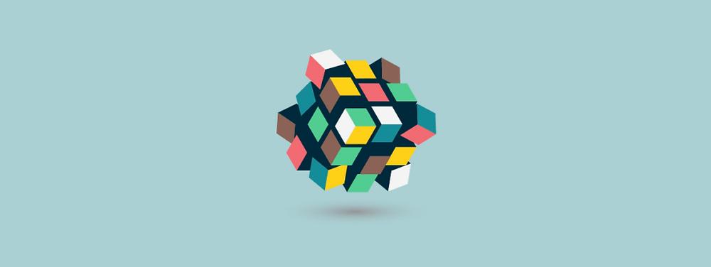 imagem de um cubo mágico