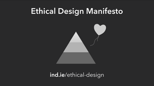 Triangulo simbolizando o manifesto ético do design