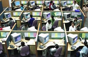trabalhadores no escritório