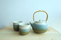 Ash blue Teapot set