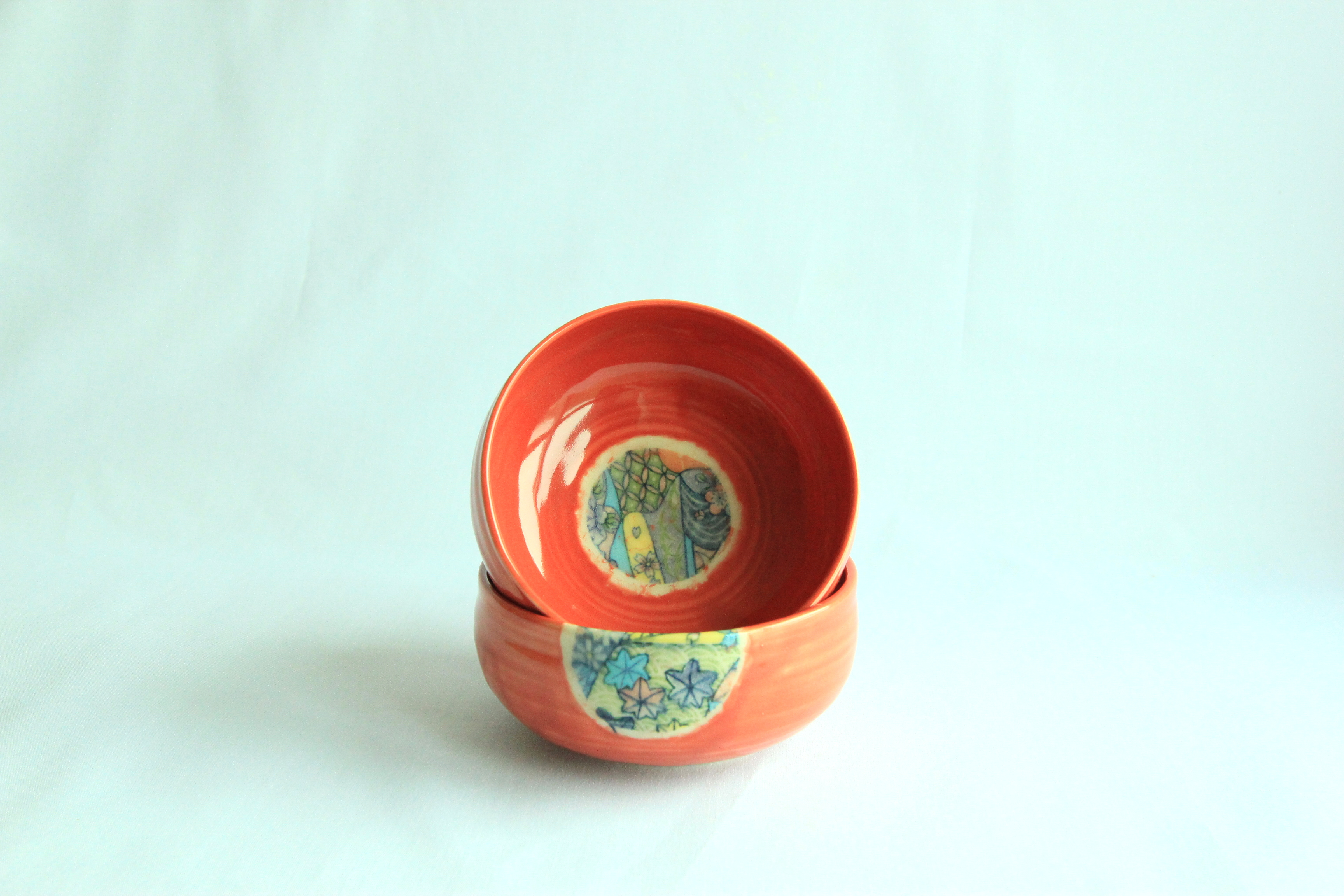 Red Shallow Bowl