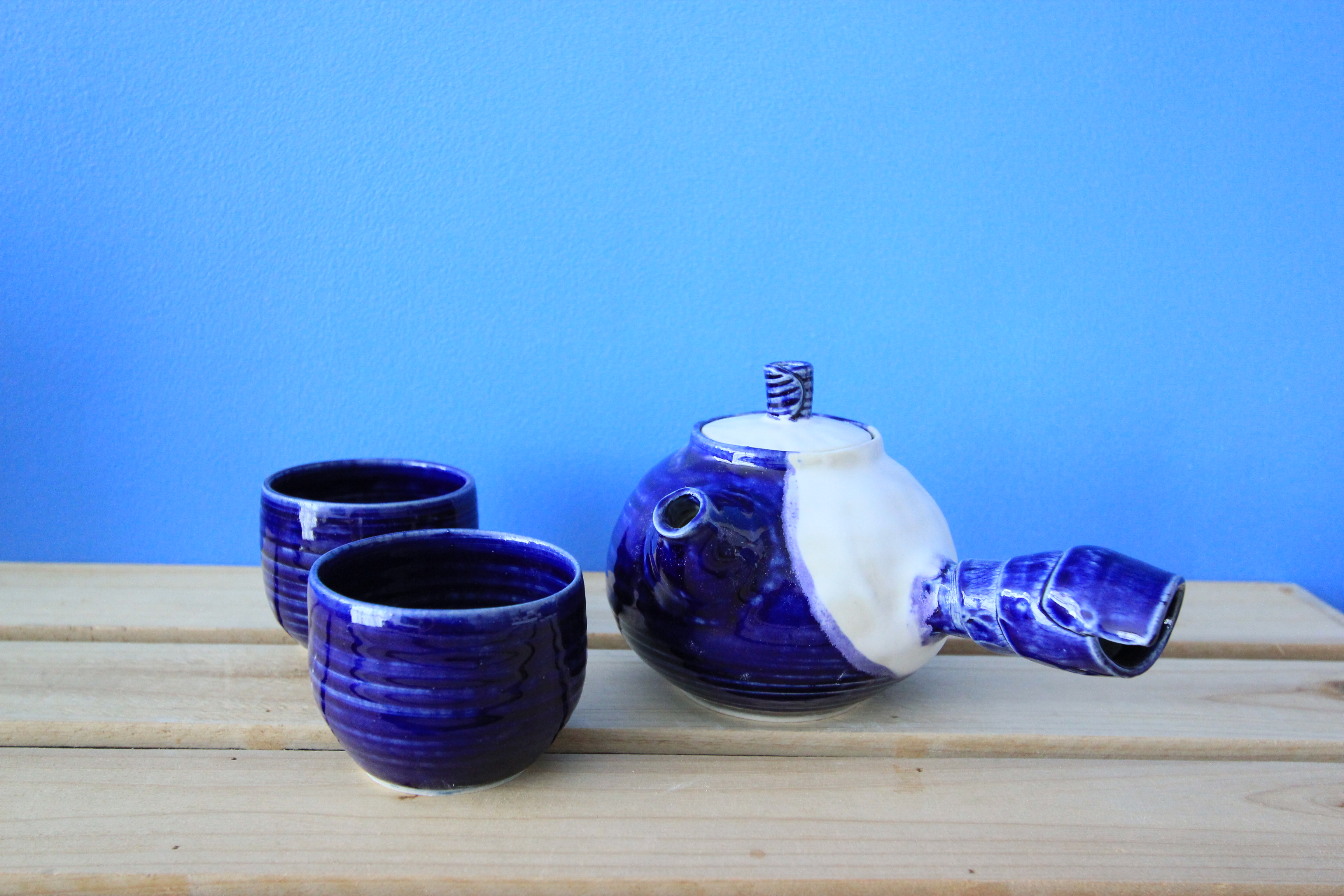 Blue and White Kyusu