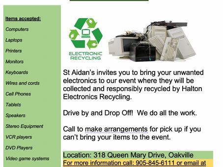 St. Aiden's E-Waste Event - Saturday June 19th