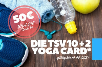 MOVE DICH GLÜCKLICH: Die TSV 10+2 Yoga Card!