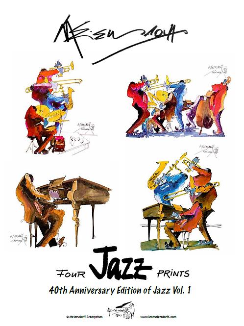 """40th Anniversary Edition of Jazz Vol. 1""  4 prints"