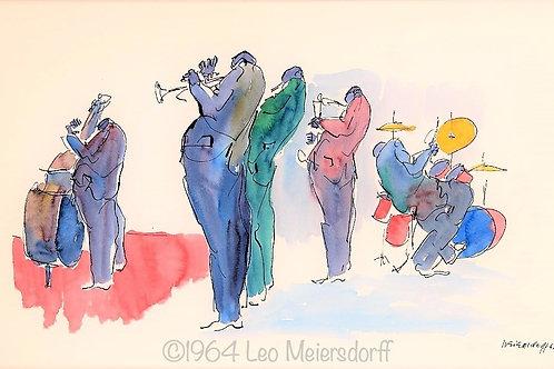 Original Mid-Century Watercolor