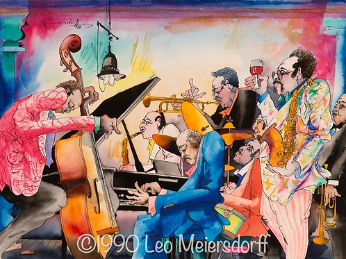 ORIGINAL Untitled Jazz Watercolor