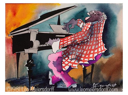 """Leo's """"Happy Jazz Pianist"""" Print"""