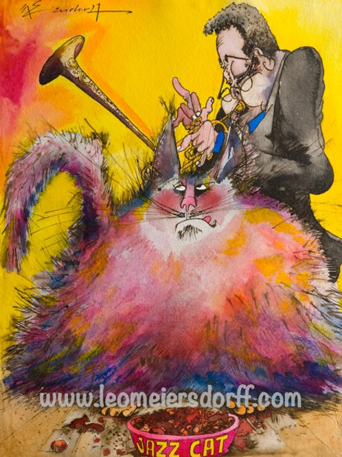 """""""Leo's Jazz Cats"""" ~  Print, Signed by the Estate"""