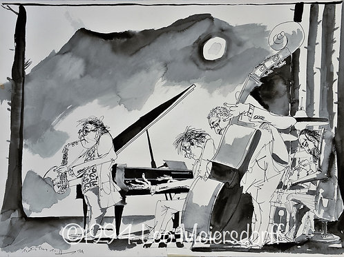 ORIGINAL Untitled Jazz Quartet in Black & White